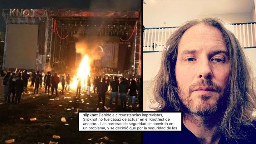 Ya salieron los de Slipknot a decir la verdad de todo lo de anoche y nos dio más pena todavía