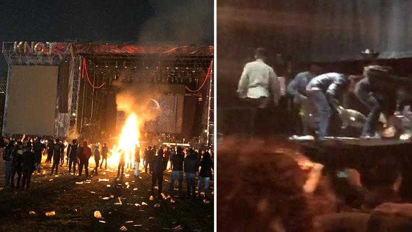 """""""Fans"""" mexicanos quemaron los instrumentos de Slipknot y Evanescence en vivo y pues se canceló todo"""