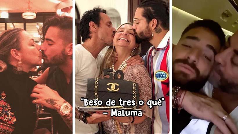 Maluma y los sospechosos besos a sus padres