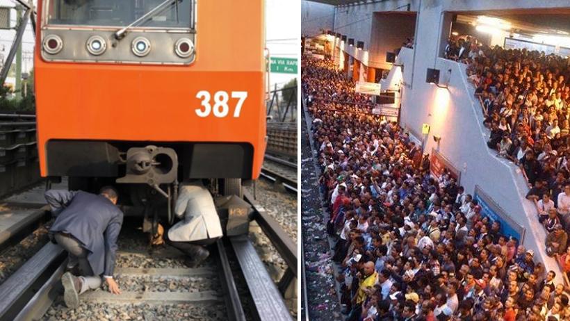 Zapato detiene Metro.