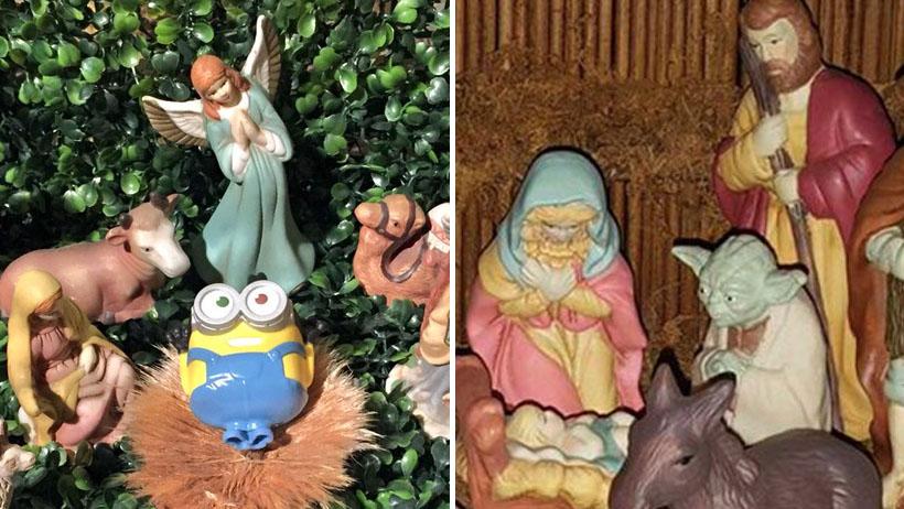 11 inesperados visitantes captados en los nacimientos navideños