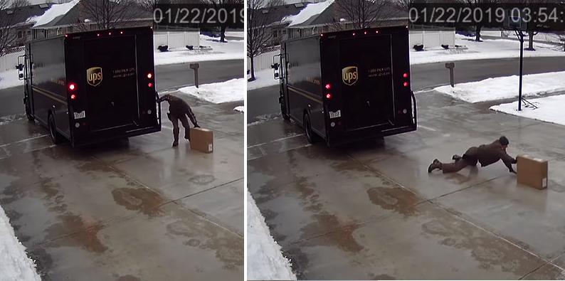 Este héroe hizo lo imposible para entregar un paquete en buenas condiciones