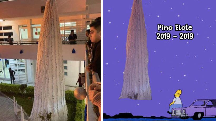Quitan al pino elote gigante por memes