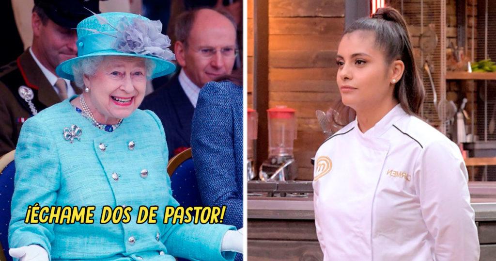 Luego de batear a su esposa en televisión, Carmen de Masterchef cocinará para la Reina Isabel