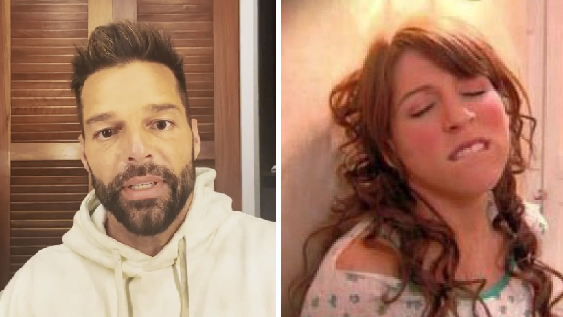 Ricky Martin se toca.