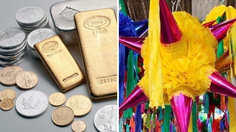 Mexicanos rechazan dotaciones de oro y plata: sólo quieren romper la piñata