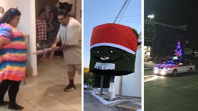 Surrealistas imágenes navideñas en México