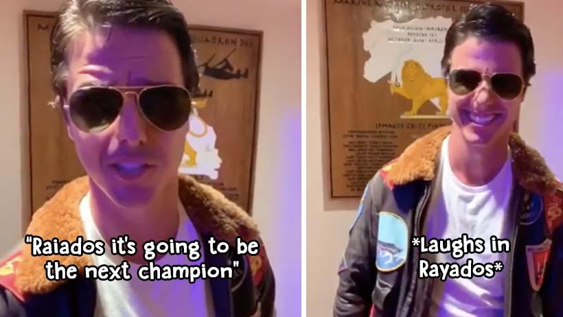 Tom Cruise apoya a Rayados en la final