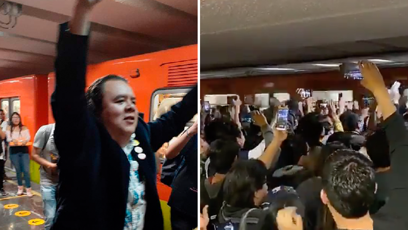 Chilangos le echan una porra al metro
