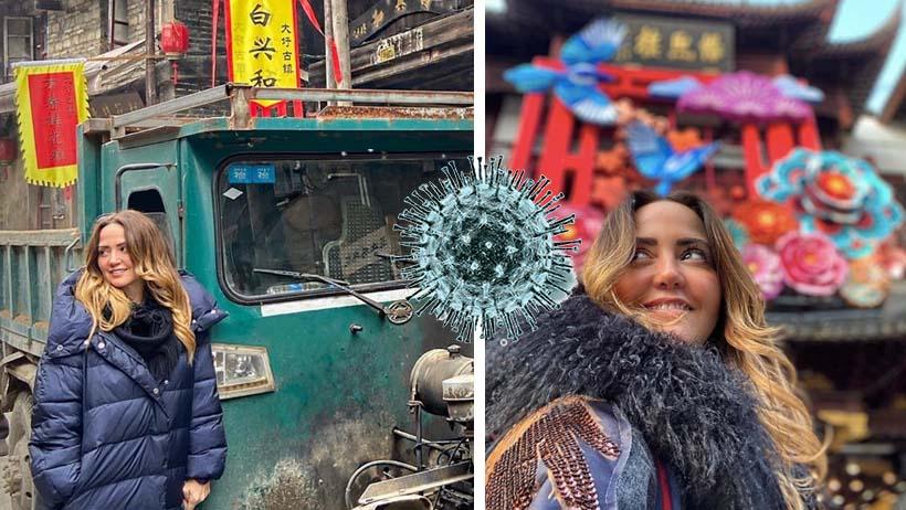 Andrea Legarreta en China durante el Coronavirus