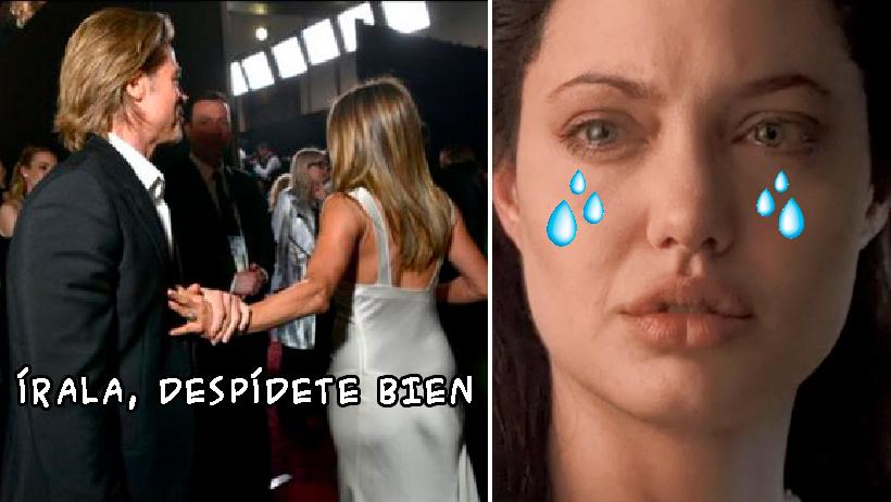 Los memes de Brad Pitt Jennifer Aniston se reencuentran.