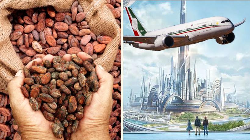Tlaxcala ofrece 500 millones de granos de cacao por el avión presidencial