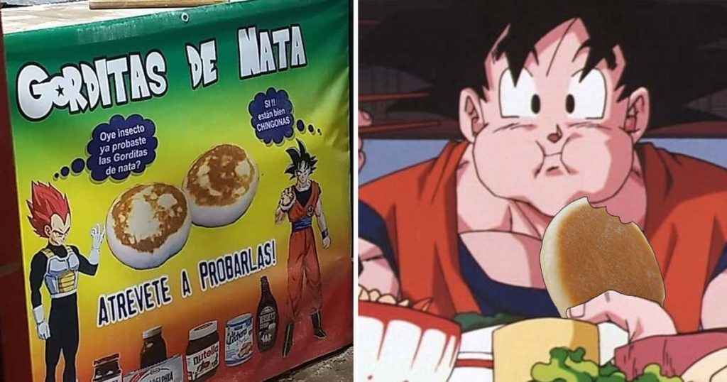 Marketing nivel SSJ Blue: Estos genios promocionan gorditas de nata con Goku y Vegeta