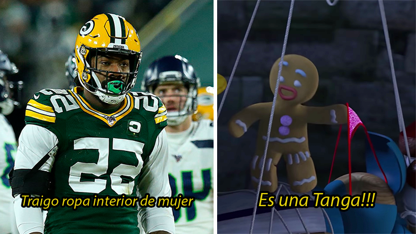 Cacharon al semental Za'Darius Smith de Green Bay usando tanga en pleno partido de playoffs
