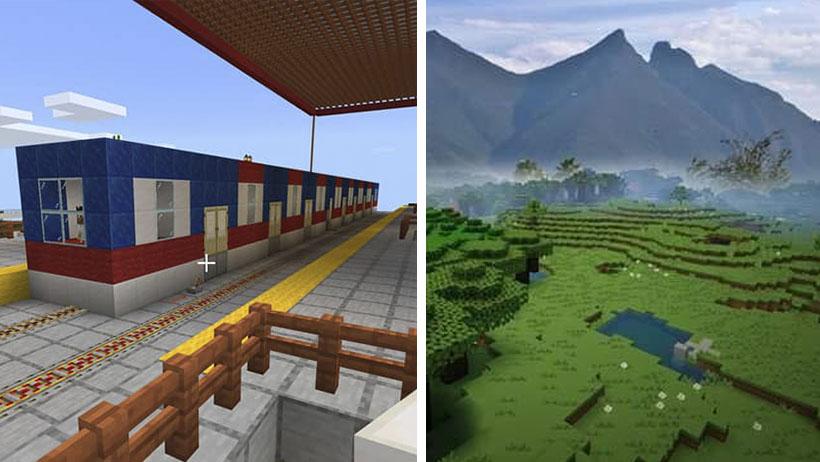 Crean en Minecraft Linea 3 del Metro de Monterrey