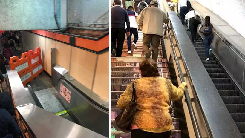Descubren la primera escalera eléctrica de metro Tacubaya que sí funciona