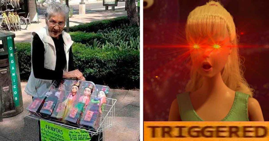 A un lado Barbie, esta abuelita mexicana vende muñecas de Frida Kahlo para conquistar el mercado