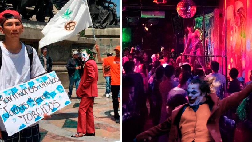 Joker dando el rol en la CDMX
