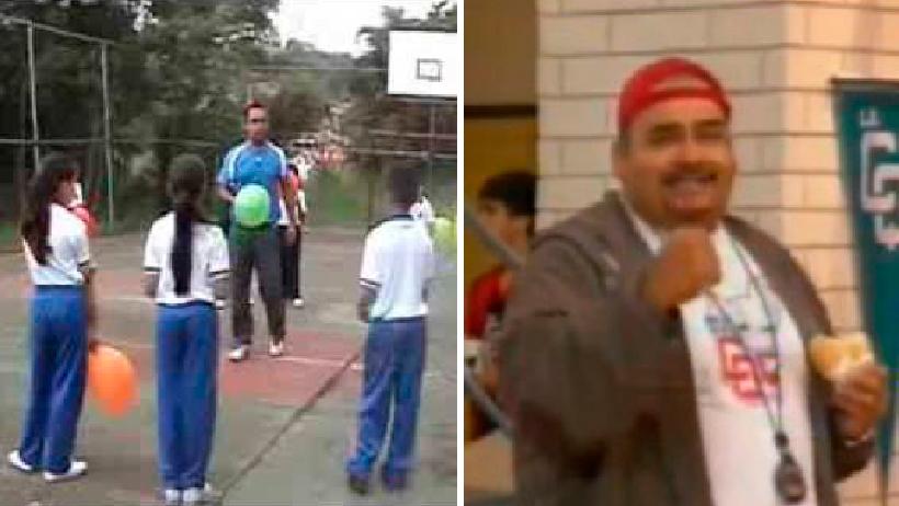 Maestro de educación física que sí hace ejercicio.