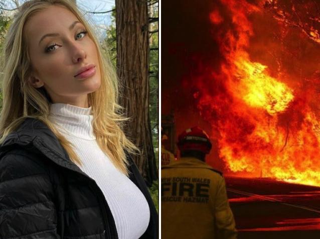 Esta morra liberó fotos en cueros para combatir los incendios de Australia