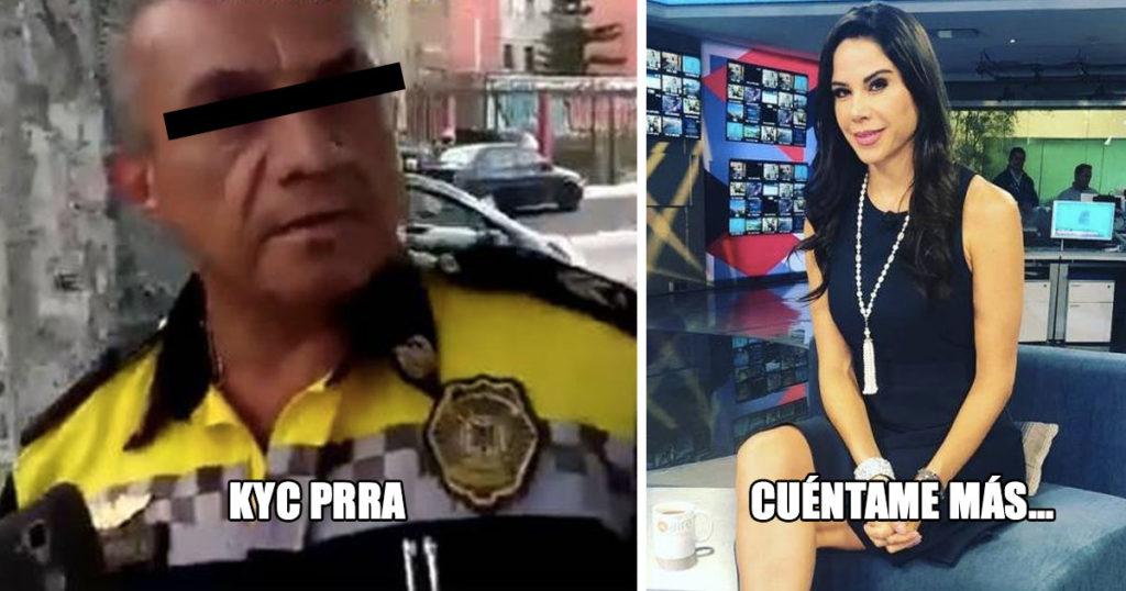"""Impresionanti: Clásico que un poli te dice """"Cállese Prra"""" sin saber que eres Paola Rojas"""