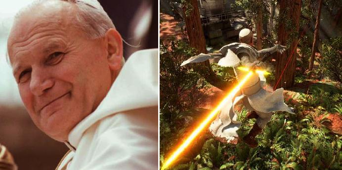¡Qué tiempos para estar vivo! Llega el Papa Juan Pablo II a videojuego de Star Wars