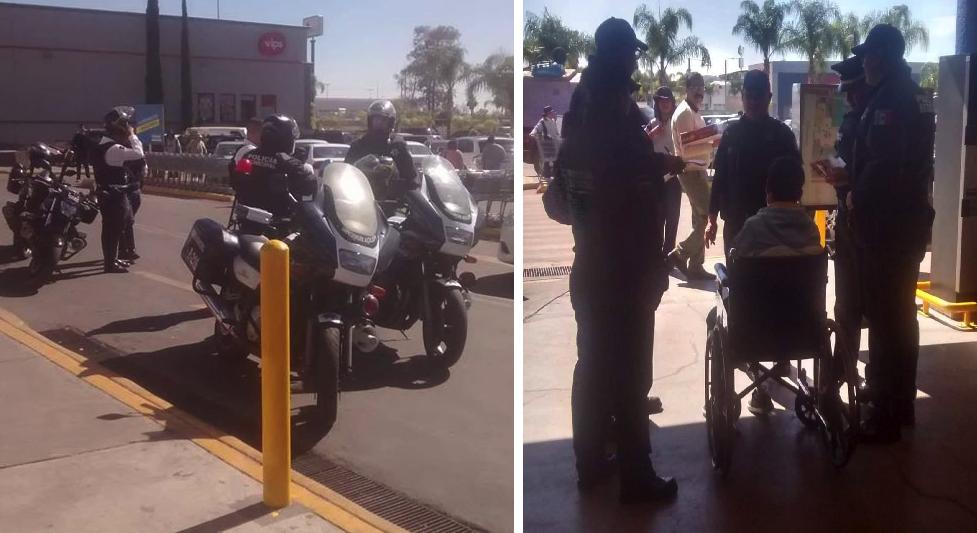En Aguascalientes movilizaron a toda la policía para agarrar a hombre en silla de ruedas