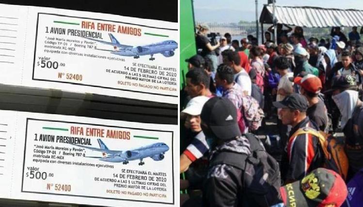 Reportan miles de hondureños queriendo entrar a México para comprar boletos para el avión