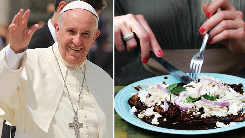 Vaticano canonizará a mexicanos que coman mole y no se manchen la camisa
