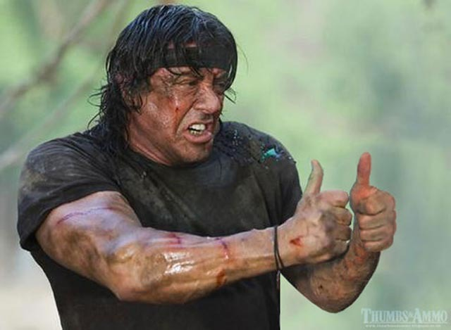 Rambo thumbs up meme