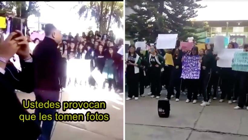 Típico que culpas a las alumnas por el acoso y arman una marcha para que des la cara