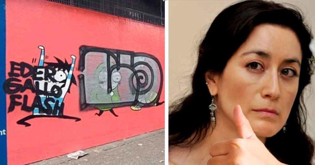 Avelina Lésper asegura que el graffiti del Zombra sí es arte