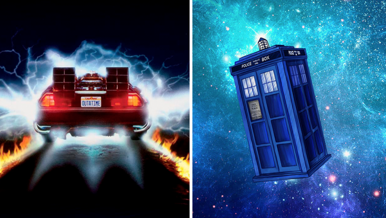 Máquina del tiempo TARDIS DeLorean