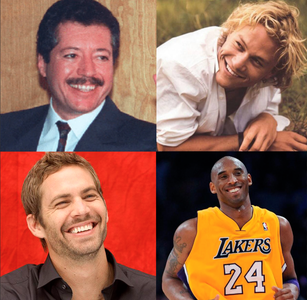 Paul Walker Heath Ledger Kobe Bryant