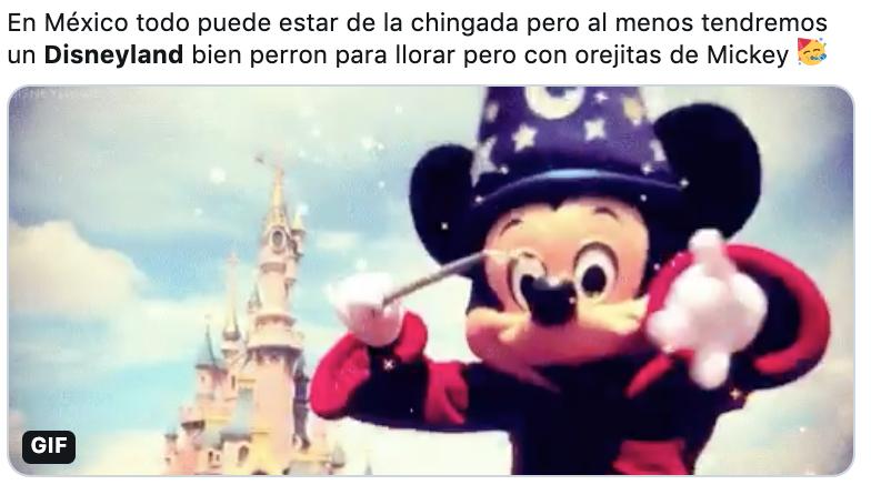 Disneyland Queretaro tweet screenshot