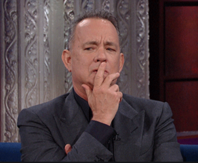 Tom Hanks Thinking