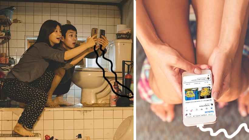 Instalarán cargadores de celular en baños públicos para la gente que na'más ve memes
