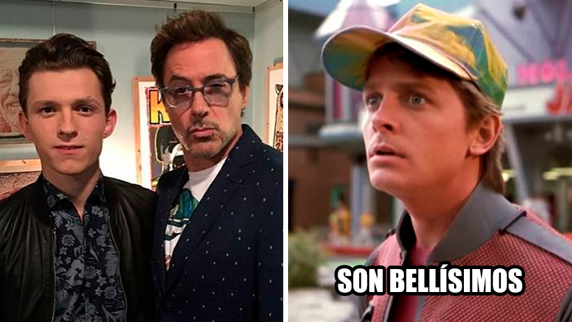 Sale video de Robert Downey Jr. y Tom Holland en Back to the Future y gritamos Great Scott!