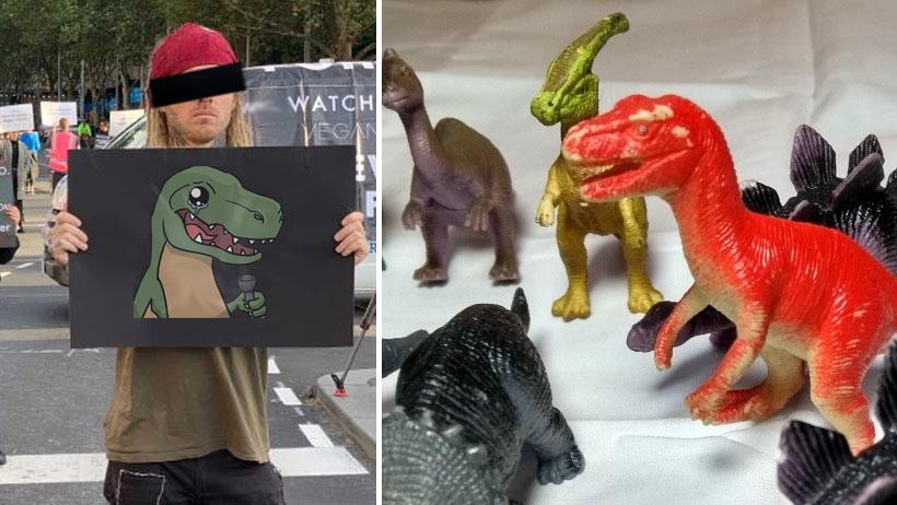 Veganos dejan de consumir plástico al descubrir que está hecho de dinosaurios