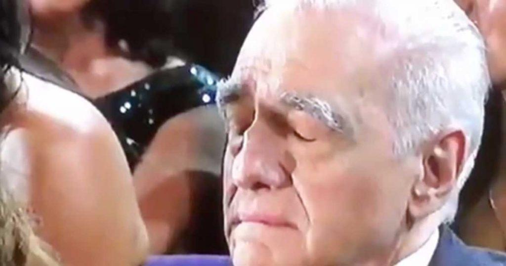 Momento exacto en el que Martin Scorsese se queda dormido viendo al genio Eminem