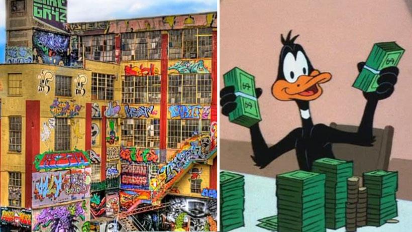 Típico que quitan el grafiti que hiciste y te indemnizan con 6.7 millones de dólares