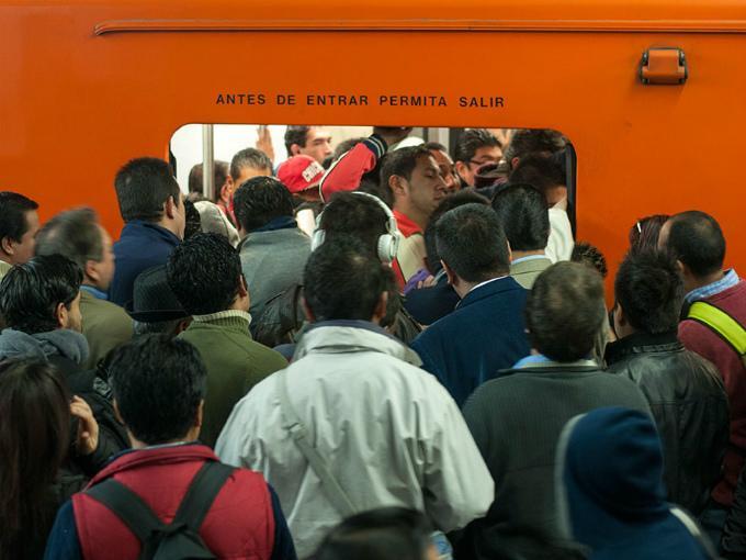 Metro cdmx atascado