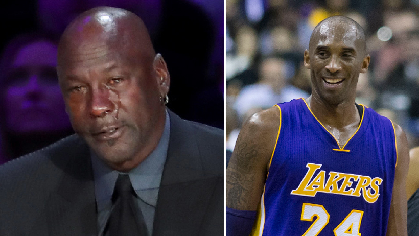 Michael Jordan llora por Kobe Bryant