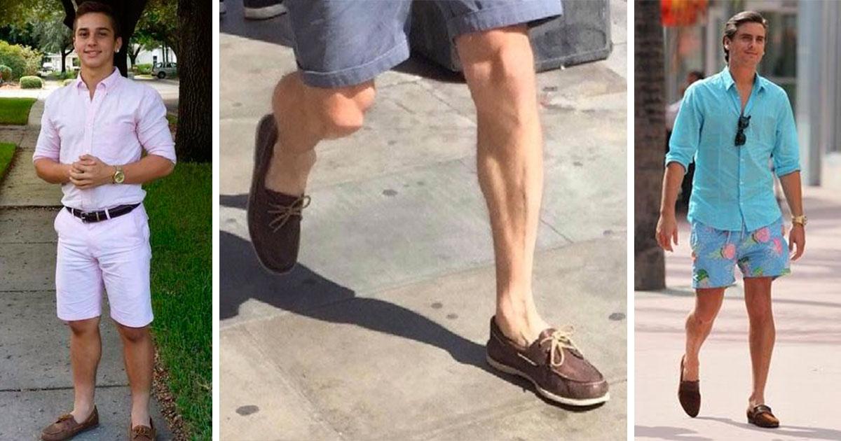 Se declara abierta la temporada para que los mirreyes usen shorts con  mocasines