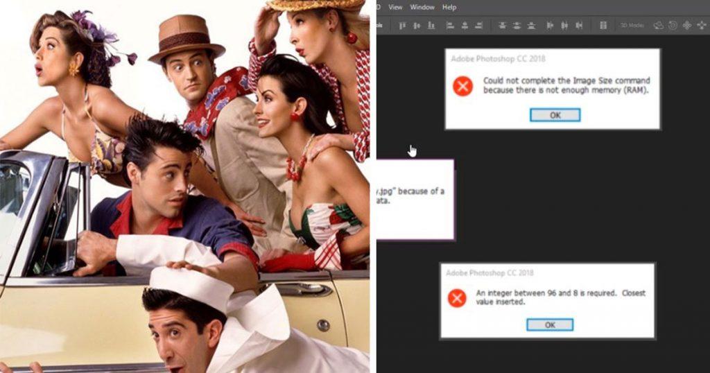 Reportan desabasto de Photoshop ante próximo regreso de Friends