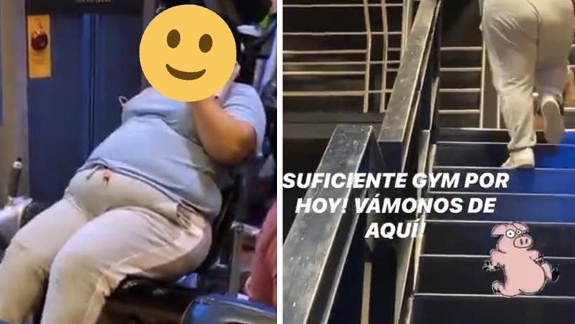 Por querer exhibir a una morra en el gym, este vato terminó quemado por el Internet