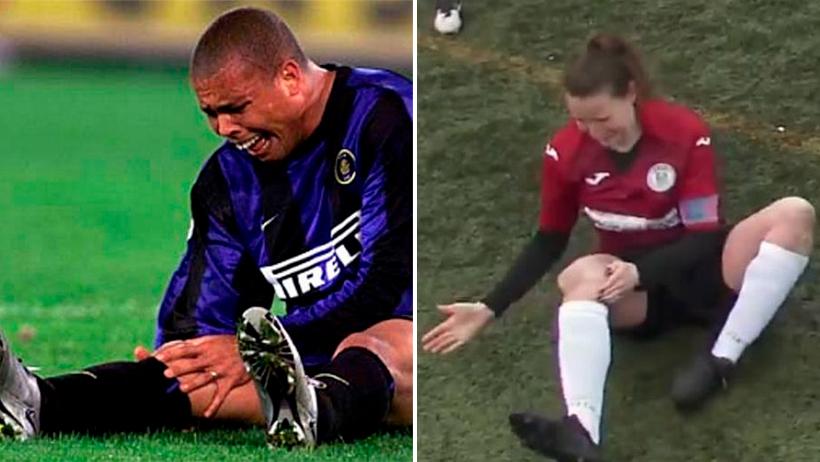 Futbolista se disloca la rodilla.