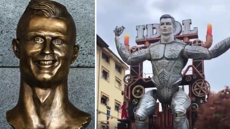 Nada puede ser más horrible que la estatua de Ronald….Ya salió el robot de Cristiano y está peor