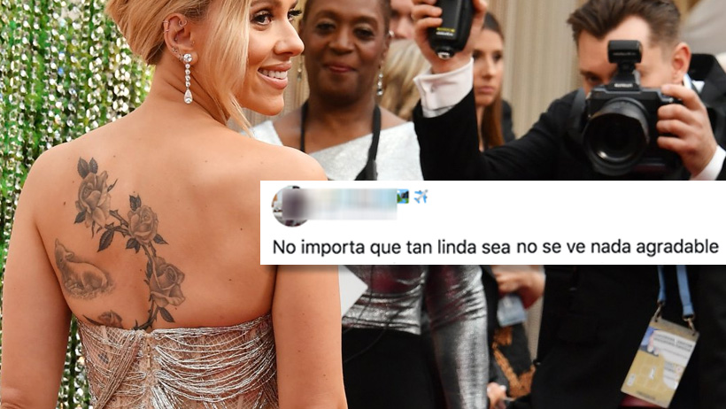 Este galán criticó el tatuaje de Scarlett Johansson y el internet no lo perdonó