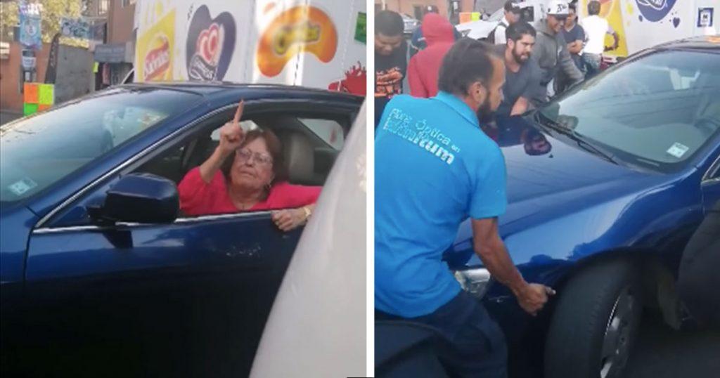 Cuando no te quieres mover y paras el tráfico, pero México se une y te mueve